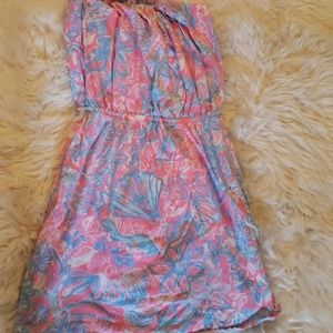 Lilly pullitzer strapless cover up and tank :)